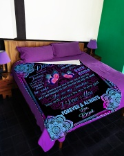"""I LOVE YOU FOREVER AND ALWAYS Large Fleece Blanket - 60"""" x 80"""" aos-coral-fleece-blanket-60x80-lifestyle-front-01"""