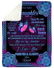 I LOVE YOU FOREVER AND ALWAYS Sherpa Fleece Blanket tile