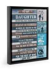 BELIEVE IN YOURSELF - LOVELY GIFT FOR DAUGHTER 11x14 Black Floating Framed Canvas Prints thumbnail
