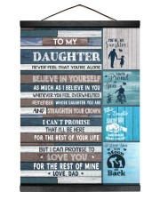 BELIEVE IN YOURSELF - LOVELY GIFT FOR DAUGHTER 12x16 Black Hanging Canvas thumbnail