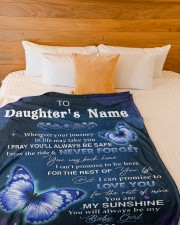 """YOU ARE MY SUNSHINE - LOVELY GIFT FOR DAUGHTER Large Fleece Blanket - 60"""" x 80"""" aos-coral-fleece-blanket-60x80-lifestyle-front-02a"""
