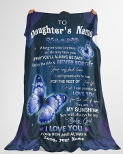 """YOU ARE MY SUNSHINE - LOVELY GIFT FOR DAUGHTER Large Fleece Blanket - 60"""" x 80"""" aos-coral-fleece-blanket-60x80-lifestyle-front-10"""