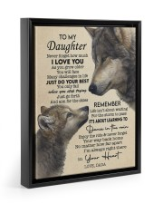 JUST DO YOUR BEST - GREAT GIFT FOR DAUGHTER Floating Framed Canvas Prints Black tile