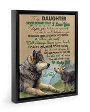 BELIEVE IN YOURSELF - TO DAUGHTER FROM DAD Floating Framed Canvas Prints Black tile
