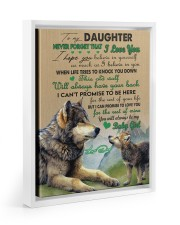 BELIEVE IN YOURSELF - TO DAUGHTER FROM DAD Floating Framed Canvas Prints White tile