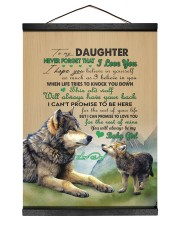 BELIEVE IN YOURSELF - TO DAUGHTER FROM DAD Hanging Canvas tile