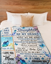 """BELIEVE IN YOURSELF - GREAT GIFT FOR DAUGHTER Large Fleece Blanket - 60"""" x 80"""" aos-coral-fleece-blanket-60x80-lifestyle-front-02"""
