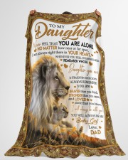 """NEVER FEEL THAT YOU ARE ALONE Large Fleece Blanket - 60"""" x 80"""" aos-coral-fleece-blanket-60x80-lifestyle-front-10"""