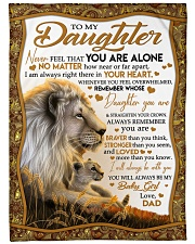 """NEVER FEEL THAT YOU ARE ALONE Large Fleece Blanket - 60"""" x 80"""" front"""