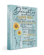 I LOVE YOU - TO DAUGHTER FROM DAD 11x14 Gallery Wrapped Canvas Prints front