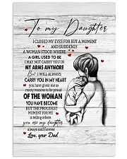 CARRY YOU IN MY HEART - TO DAUGHTER FROM DAD Vertical Poster tile