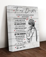 CARRY YOU IN MY HEART - TO DAUGHTER FROM DAD 11x14 Gallery Wrapped Canvas Prints aos-canvas-pgw-11x14-lifestyle-front-17