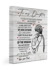 CARRY YOU IN MY HEART - TO DAUGHTER FROM DAD 11x14 Gallery Wrapped Canvas Prints front
