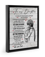 CARRY YOU IN MY HEART - TO DAUGHTER FROM DAD Floating Framed Canvas Prints Black tile
