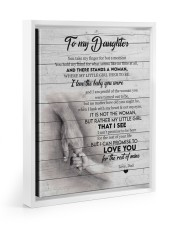 I LOVE THE BABY YOU WERE - BEST GIFT FOR DAUGHTER Floating Framed Canvas Prints White tile