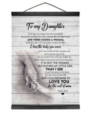 I LOVE THE BABY YOU WERE - BEST GIFT FOR DAUGHTER Hanging Canvas tile