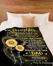 """I THINK ABOUT YOU - DAD TO DAUGHTER Large Fleece Blanket - 60"""" x 80"""" aos-coral-fleece-blanket-60x80-lifestyle-front-02"""