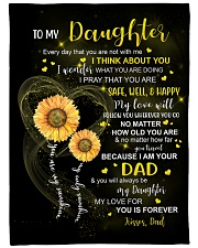 """I THINK ABOUT YOU - DAD TO DAUGHTER Large Fleece Blanket - 60"""" x 80"""" front"""