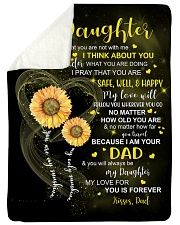 I THINK ABOUT YOU - DAD TO DAUGHTER Sherpa Fleece Blanket tile