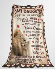"""STRAIGHTEN YOUR CROWN - BEST GIFT FOR DAUGHTER Large Fleece Blanket - 60"""" x 80"""" aos-coral-fleece-blanket-60x80-lifestyle-front-10"""