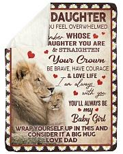 STRAIGHTEN YOUR CROWN - BEST GIFT FOR DAUGHTER Sherpa Fleece Blanket tile