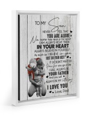 I LOVE YOU - BEST GIFT FOR SON 11x14 White Floating Framed Canvas Prints thumbnail