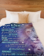 "REMEMBER WHOSE SON YOU ARE Large Fleece Blanket - 60"" x 80"" aos-coral-fleece-blanket-60x80-lifestyle-front-02"