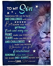 "REMEMBER WHOSE SON YOU ARE Large Fleece Blanket - 60"" x 80"" front"