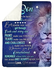 "REMEMBER WHOSE SON YOU ARE Large Sherpa Fleece Blanket - 60"" x 80"" thumbnail"