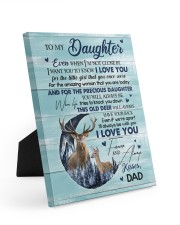I LOVE YOU - TO DAUGHTER FROM DAD Easel-Back Gallery Wrapped Canvas tile