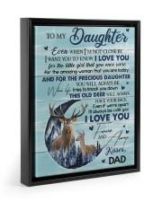 I LOVE YOU - TO DAUGHTER FROM DAD Floating Framed Canvas Prints Black tile