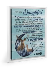 I LOVE YOU - TO DAUGHTER FROM DAD Floating Framed Canvas Prints White tile