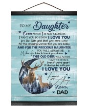 I LOVE YOU - TO DAUGHTER FROM DAD Hanging Canvas tile