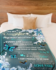 "I AM PROUD OF MANY THINGS - BEST GIFT FOR DAUGHTER Large Fleece Blanket - 60"" x 80"" aos-coral-fleece-blanket-60x80-lifestyle-front-02"