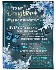 """I AM PROUD OF MANY THINGS - BEST GIFT FOR DAUGHTER Large Fleece Blanket - 60"""" x 80"""" front"""
