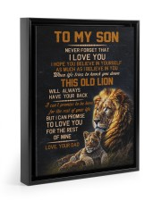 THIS OLD LION - BEST GIFT FOR SON FROM DAD Floating Framed Canvas Prints Black tile