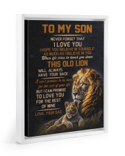 THIS OLD LION - BEST GIFT FOR SON FROM DAD Floating Framed Canvas Prints White tile