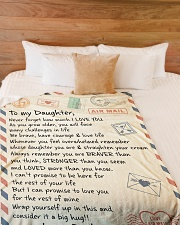 """NEVER FORGET HOW MUCH I LOVE YOU Large Fleece Blanket - 60"""" x 80"""" aos-coral-fleece-blanket-60x80-lifestyle-front-02"""