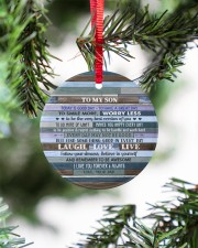 BELIEVE IN YOURSELF - LOVELY GIFT FOR SON Circle ornament - single (porcelain) aos-circle-ornament-single-porcelain-lifestyles-07