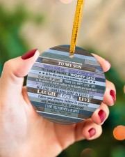BELIEVE IN YOURSELF - LOVELY GIFT FOR SON Circle ornament - single (porcelain) aos-circle-ornament-single-porcelain-lifestyles-09