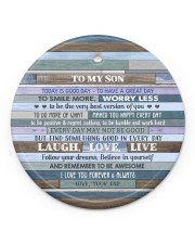 BELIEVE IN YOURSELF - LOVELY GIFT FOR SON Circle ornament - single (porcelain) front