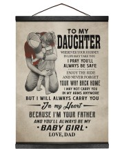 CARRY YOU IN MY HEART - LOVELY GIFT FOR DAUGHTER 12x16 Black Hanging Canvas thumbnail