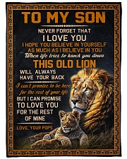 """I BELIEVE IN YOU - LOVELY GIFT FOR SON FROM POPS Large Fleece Blanket - 60"""" x 80"""" front"""