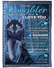 """I LOVE YOU - LOVELY GIFT FOR DAUGHTER FROM DAD Large Fleece Blanket - 60"""" x 80"""" front"""