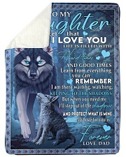 """I LOVE YOU - LOVELY GIFT FOR DAUGHTER FROM DAD Large Sherpa Fleece Blanket - 60"""" x 80"""" thumbnail"""