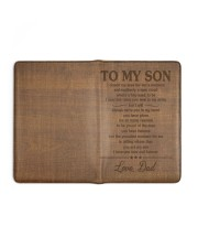 I LOVE YOU NOW AND FOREVER - TO SON FROM DAD Medium - Leather Notebook full