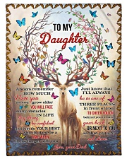 I LOVE YOU - TO DAUGHTER FROM DAD Fleece Blanket tile