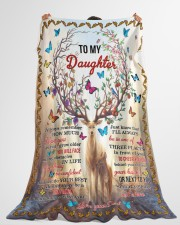 "I LOVE YOU - TO DAUGHTER FROM DAD Large Fleece Blanket - 60"" x 80"" aos-coral-fleece-blanket-60x80-lifestyle-front-10"