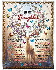 "I LOVE YOU - TO DAUGHTER FROM DAD Large Fleece Blanket - 60"" x 80"" front"