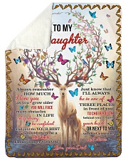 "I LOVE YOU - TO DAUGHTER FROM DAD Large Sherpa Fleece Blanket - 60"" x 80"" thumbnail"